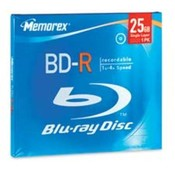 BD-R, 4X Max Speed, 25GB, Branded w/Jewel Case. 15 EA/PK.