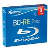 BD-RE Rewritable Disc, 1-4x, 25GB, 15/PK. 15 EA/PK.