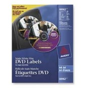 DVD Inkjet Labels,20 Sheet/2 Labels P/Sheet,Matte,White Film. 20 EA/PK.