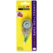 "Correction Tape, Mini, Single Line, 1/6""x236"", White. 1 EA/CD."