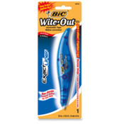 "Wite-Out Correction Tape Pen, 1/5""x19.8', Blue. 6 EA/BX."