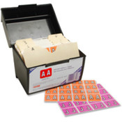 "Vertical Coded Labels, ""O"", Light Orange. 240 EA/PK."
