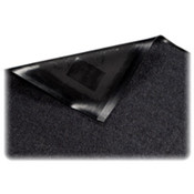 Indoor Mat, Nylon Carpet, Rubber Back, 4'x6', Black. .