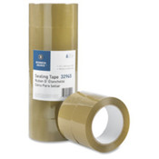 Packing Tape, 1.6mil, 3&quot; Core, 1-7/8&quot;x110 Yards, 6/PK, Tan. 6 PK/CT.
