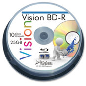 Blu-Ray Disc, 6x, 25GB Branded/Jewel Case. 10 EA/PK.