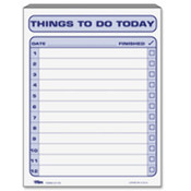 "Things To Do Today Pad,8-1/2""x11"",100/SHT,WE/BE Print. 6 EA/BX."