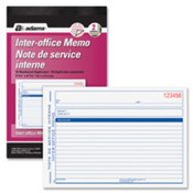 "Interoffice Memo Book, 2-Part, Preprinted, 5-9/16""x8-7/16"". ."