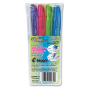Gel Rolling Ball Pens, .5mm, Barrel/Blue, Ink/Blue. 12 EA/BX.