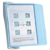 Wall Reference System,Antimicrobial, 10 Panels, Lt Blue. .