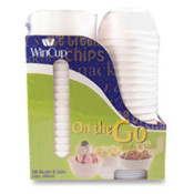 Foam Bowls W/Lids, 12 oz., 30/PK, White. 30 EA/PK.