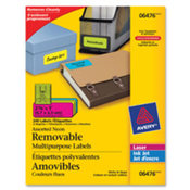 "Multipurpose Labels, Remov, 2-5/8""x1"", 240/PK, Ast. ."