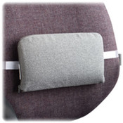 "Lumbar Support Cushion, 12-1/2""x2-1/2""x7-1/2"", Neutral Grey. 1 EA/PK."