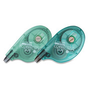 "Correction Tape,1/6""x394"",White Tape/Aqua Dispenser. 1 EA/CD."