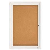 Cork Board W/Glass Door, 1 Door, 2'x3', Aluminum Frame. 1 EA/CT.