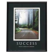 "Success Poster, 24""x30"", Black Frame. 1 EA/BX."