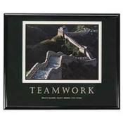"Teamwork Poster, 30""x24"", Black Frame. 6 EA/CT."