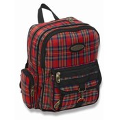 Junior Plaid Backpack