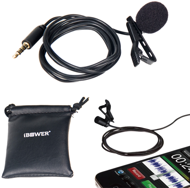 iBower Lavalier Microphone for Apple iOS and Andro (1945652)