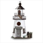 Wood &quot;Lighthouse&quot; Birdhouse