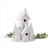Wood Distressed Victorian Birdhouse
