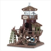 Wood Lifeguard Station Birdhouse