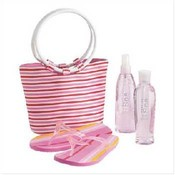 Strawberry Scented Bath Set