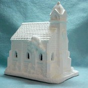 Unfinished Plaster Village Church Wholesale Bulk