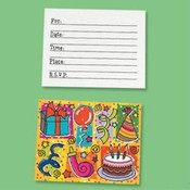 Birthday Invitation Cards and Envelopes Wholesale Bulk