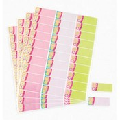 Floral Stripe Address Labels Wholesale Bulk