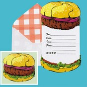 BBQ Invite with Envelope Wholesale Bulk
