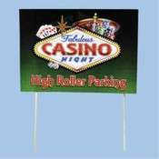 Casino Night Yard Sign Wholesale Bulk