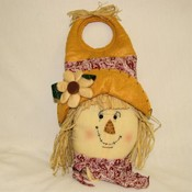 Stuffed Scarecrow Head Door Hanger