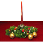 Burgundy Taper Candles