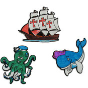 Sailing the Sea - Fuzzy Coloring Magnets Wholesale Bulk