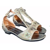 Women's Sequined Gray Sandals