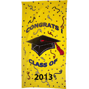 30 x 60, 11 lb. Congrats Velour Beach Towel - 2013