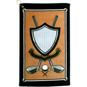 16 x 25, 2.5 lb. Crest Design Velour Golf Towel