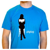 "Twill Co ""Unplug"" Design Graphic T Shirt- Mens Small"