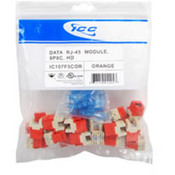 CAT 5e, HD, 25 PK MOD Connector - Orange