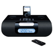 Stereo Radio Clock w/ iPod - Black