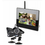 "7"" LCD SD DVR & 2 WIRELESS IN/OUT CAMERA"