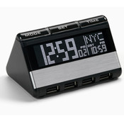World Travel Clock with USB Hub Wholesale Bulk