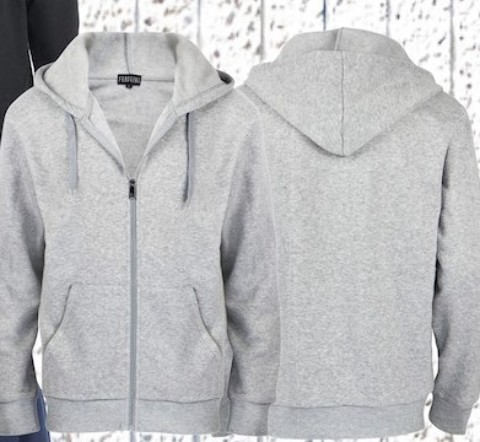 Fergugini Men's Hooded Fleece - Light Grey (2122362)