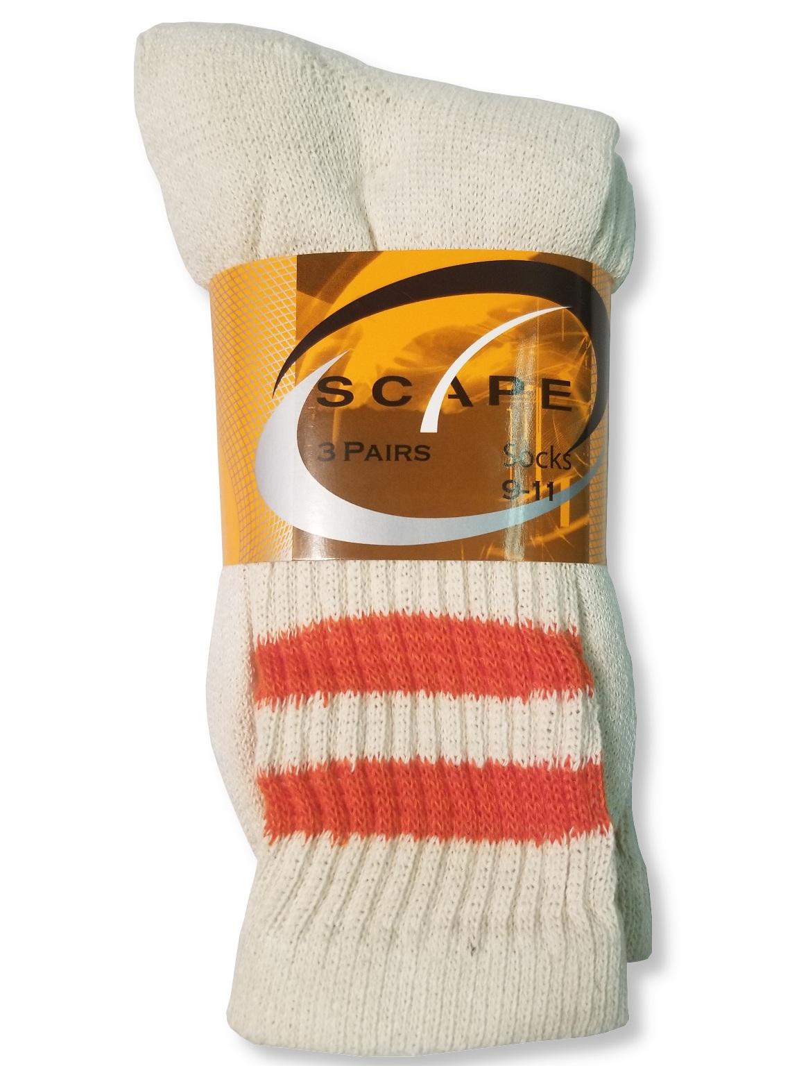 Unisex Scape Biege/Orange Crew Sport Socks [1940176]