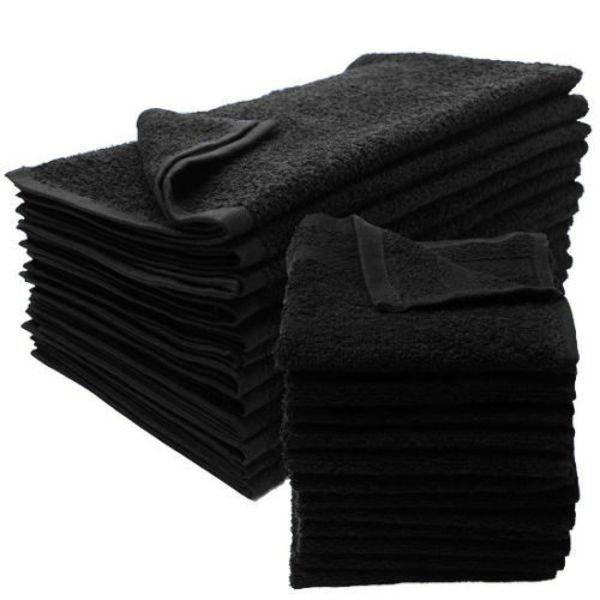 Wholesale Black Bleach Proof Salon Towels