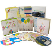 Birthday Music CD & Greeting Card Sets of 12