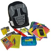 "Designer Marc Gold Pre Filled 17"" Backpack For Back to School Drives 4 Pack"