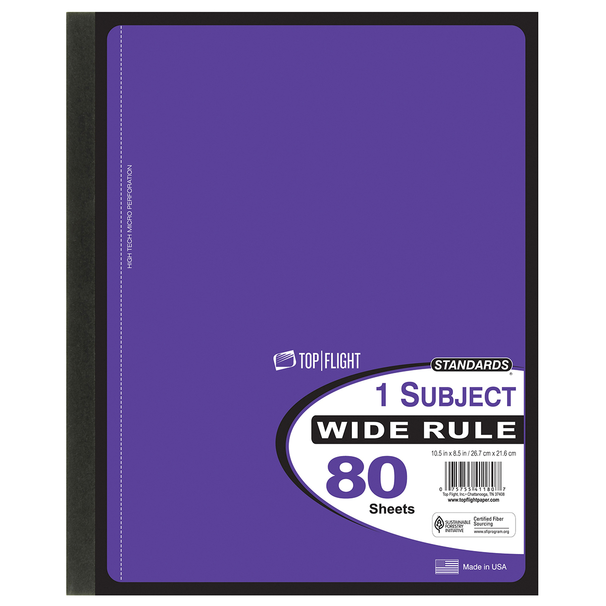 80 Sheet Wireless Wide Ruled NOTEBOOK [2315197]