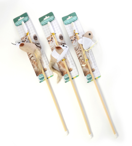 ''Cat TOYS On Stick - Assorted Designs, 18'''' [2341269]''