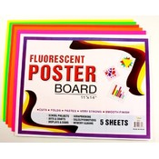 Neon Poster Board 5pk Colors Wholesale Bulk